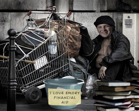 Happy-poor-college-student