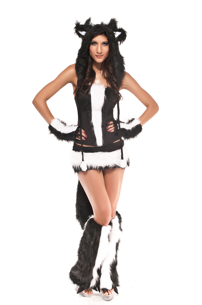 2014-New-Cosplay-Sexy-Skunk-Costume-7Pieces-set-Soft-Faux-Fur-Lace-up-font-b-Corset